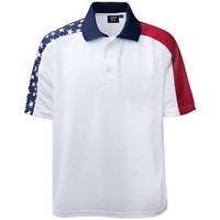 Men's Stars and Stripes Shoulder Patriotic Polo Shirt USA Flag Shirt Golf Shirt