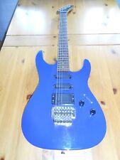 Elektrische Gitarre, E-Gitarre, Blau, inklusive Tasche und Kabel