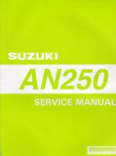 Suzuki AN250 1998 Service Manual