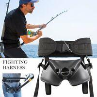 Adjustable Boat Fishing Belly Belt Rod Holder Fighting Belt Harness Waist Belt