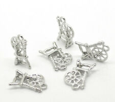 "40 Silver Tone Spinning Wheel Charm Pendants 18x12mm(3/4""x1/2"") Jewelry Making"