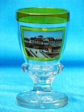 """Spätbiedermeier Ansichten Pokal Glas Becher """"Ferdinandsbrücke in Wien"""" um 1860"""