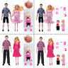 5 People Doll Family Educational Real Pregnant Doll Gift Pink Red