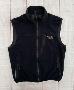 Men's Mountain Hardwear Fleece Vest Gore Windstopper Jacket Made In USA Black L