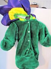 Celebration~Plush Green INFANT FLOWER Halloween Costume BUNTING~Baby 0-12 Months