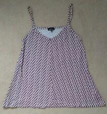 Ladies warehouse purple sleeveless vest top size 8 floral print