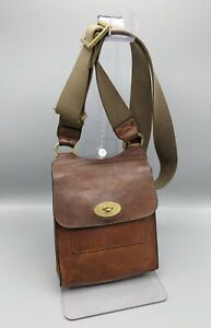 Mulberry Antony Small Messenger in Oak Natural  Leather