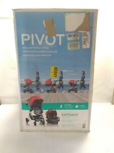 Evenflo Pivot Modular Travel System with Safemax Infant Car Seat Salsa Red