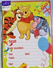 Winnie The Pooh Party Invitations Hallmark 20 Pack With Envelopes