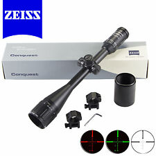 Black Carl ZEISS 6-24x50AO Rifle Scope Illuminated Reticle R&G FREE 20mm Mount