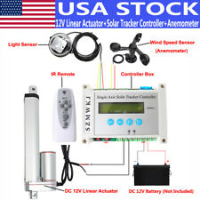 Usa Diy Single Axis Solar Tracking Tracker With 12v Linear Actuator Anemometer Kit