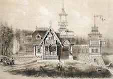 RARE Motives of Russian Architecture Country house #5 Russian modern postcard