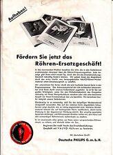 Prospekt Deutsche Philips GmbH Valvo Röhren um 1935 Radio ! (D