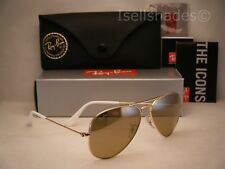 Ray Ban 3025 Aviator Gold w Brown-Silver Mirror Gradient Lens (RB3025 001/3K 55)