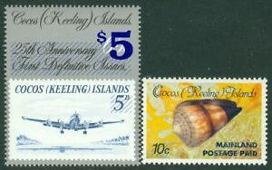EDW1949SELL : COCOS ISLAND 1990-91 Sc #228, 236 The 2 Key Values VF MNH Cat