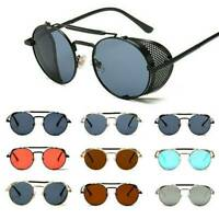 Fashion Men Polarized Steampunk Sunglasses Women Round Metal Frame Charm Glasses