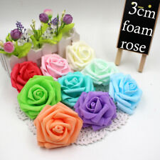 SMALL 3CM FOAM ROSES - Pack of 50  Colourfast Artificial Wedding Flowers Bouquet