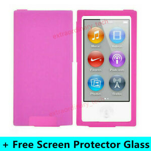 Pink Silicone Soft Skin Case Cover for Apple iPod Nano 7th & 8th Generation