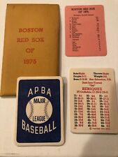 APBA GTOP 1975 BOSTON RED SOX NM-MINT
