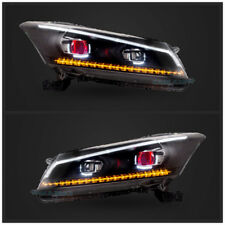 LED DRL Projector Headlights For Honda Accord 2008-2012 Front Lamps Assembly