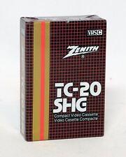 Zenith VHS-C TC-20 SHG Compact Video Cassette VHS-C NEW 60min