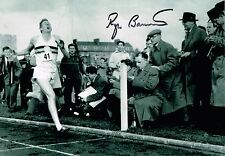 Sir Roger Bannister Hand Signed Autograph Photo  First to Run 4 Minute Mile