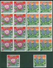 EDW1949SELL : CAMBODIA 1970 Scott #231-33, 233a Flowers 9 Cplt sets MNH Cat $271