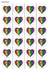 24X PRECUT GAY PRIDE, EDIBLE WAFER PAPER, CUPCAKE, CAKE TOPPERS 1127