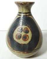 """Vintage MCM OMC Japan Small Ceramic Art Pottery 3"""" Vase Mid Century"""