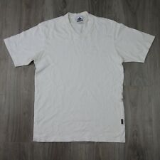 Mens Vintage Adidas V Neck Three Stripe Spell Out Tee 90s S White EQT