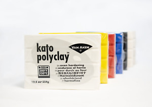 12.5 OZ KATO POLYCLAY VAN AKEN POLYMER CLAY VARIOUS COLORS. BUY MORE AND SAVE