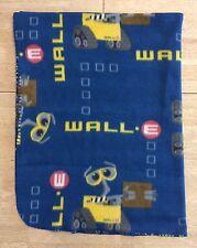 Disney Pixar Wall E Fleece Blanket Throw Blue Yellow Twin Bedding Wall-E