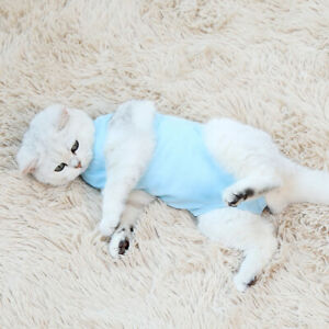 Pet Cat Recovery Suit Abdominal Wounds Medical Vest Surgical Recovery Anti-Lick