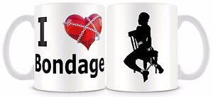 I Love Heart Bondage Mug fun adult novelty gift.
