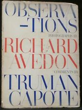 Avedon, Richard & Capote, Truman. Observations.  First Edition.