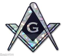 MASON MASONIC REFLECTIVE AUTO CAR EMBLEM DECAL STICKER MADE IN USA