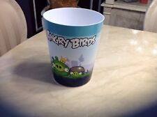ANGRY BIRDS PLASTIC TRASH CAN WASTEBASKET GARBAGE CHILD'S KID'S ROOM