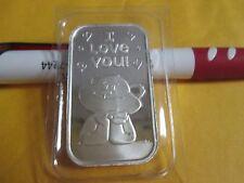 Love You Argent Ours 1 oz .999 Fine Lingot Barre