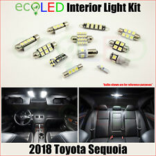 Fits 2018 Toyota Sequoia WHITE LED Interior Light Accessories Package Kit 13 PCS