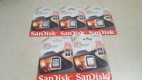Lot of 5 - SanDisk 32GB Ultra Class 10 SDHC UHS-I Memory Card Up to 80MB
