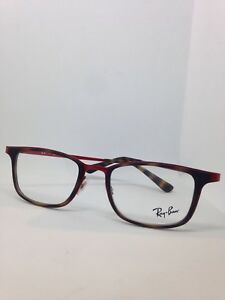 NEW AUTHENTIC RAY BAN RB 6373M 2959 TORTOISE/RED FRAMES EYEGLASSES 52mm