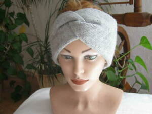 Stirnband dick  Mütze Kopfband handgestrickt selbst gestrickt  mit Alpakawaolle