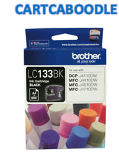 GENUINE Brother LC133BK BLACK Ink Cartridge - for DCPJ152W DCPJ172W DCPJ552DW
