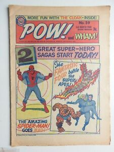 Pow! and Wham! comic No 59 - 2nd March 1968 Spider-man Fantastic Four  VG+