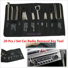 20 Pcs/Set Pro Stainless Steel Car Autos Radio Stereo CD Player Removal Key Tool