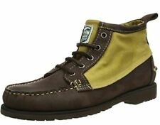 BNIB - SEBAGO FILSON TIN CLOTH  BROWN LEATHER KNIGHT ANKLE BOOTS - UK 9 EU 43.5