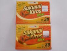 2 pack- SUKUNAI KIROS MAX W/ AFRICAN MANGO 60 Capsules- Weight Loss, Detox