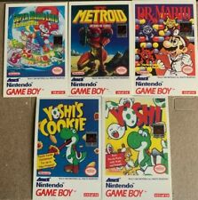 Nintendo Game Boy Tip Cards - Mario - Yoshi - Free Shipping (3-1)