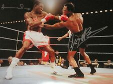 More details for nigel benn chris eubank dual signed 16x12 boxing champions photo see proof coa