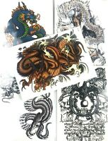 5 Pack Mixed Chinese Dragon Set Phoenix Large 8 inch Temporary 3 Day Arm Tattoos